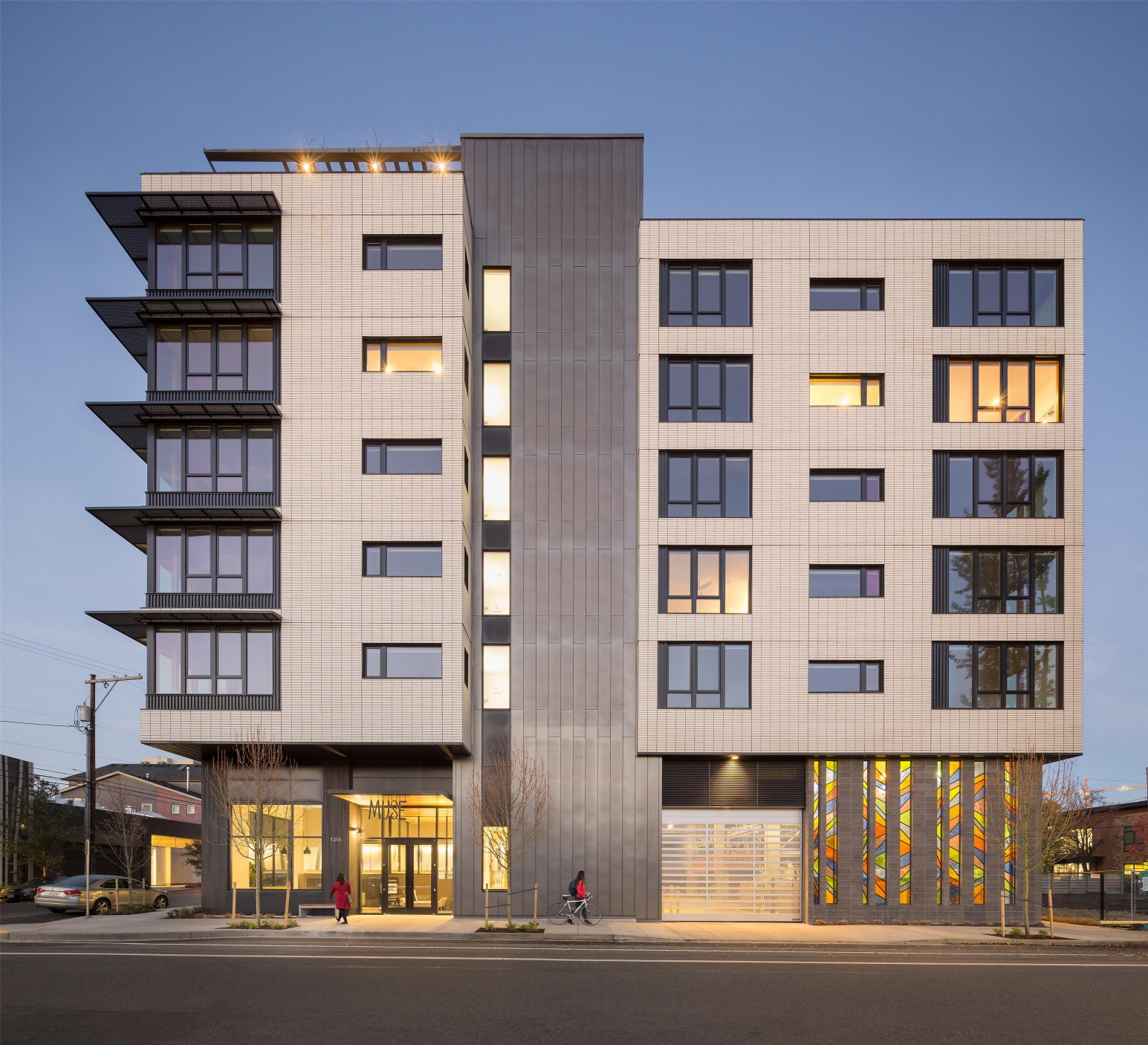 New Construction Apartment Building: GBD Architects, Portland, Oregon
